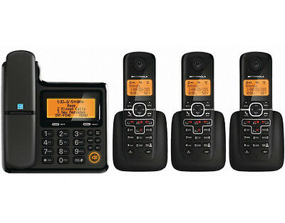 Motorola DECT 6.0 Expandable Telephone Phone System 4 Handsets Caller ID L704C
