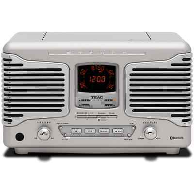 Teac SL-D800BT Silver CD MP3 Bluetooth Tap 'n Play Speaker Music System with USB