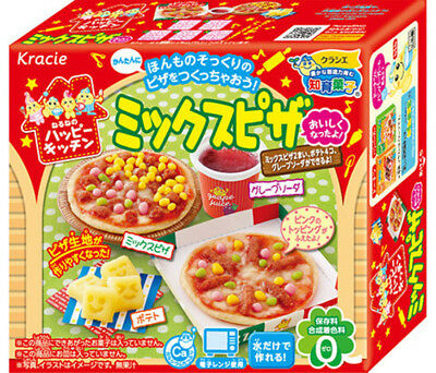 KRACIE POPIN COOKIN MIX PIZZA KIT. DIY Japanese pizza candy.Happy Kitchen.Poppin