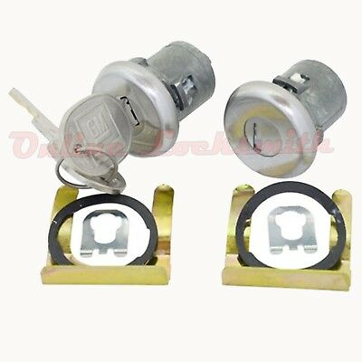 New Pair Of Door Locks For Chevrolet 1970+ With Keys GM Logo OEM Strattec 608307