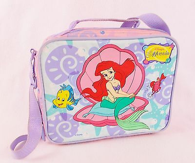 Vintage Disney The Little Mermaid Lunch Bag Carry Case Lunchbox Made by Thermos