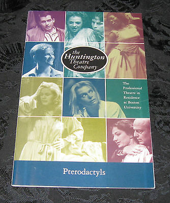 Playbill PTERODACTYLS signed Marion Mercer,Dennis Creaghan,Huntington Theatre Co