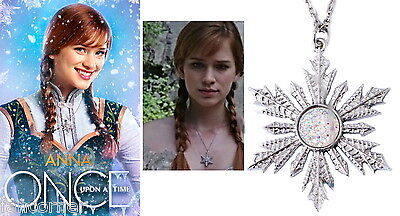 Once Upon A Time pendentif flocon réplique d'Anna OUAT Anna's replica necklace