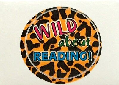 """""""WILD about READING!"""" Hand Stick-A Decals (Restickable) Package of 112 NEW/HOT!"""