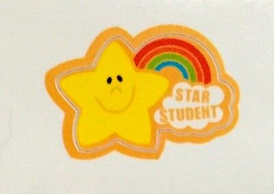 """""""STAR STUDENT"""" Rainbow Hand Stick-A Decals (Restickable) Package of 112 NEW/HOT!"""