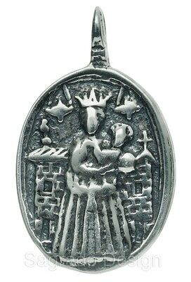 MEDIEVAL MADONNA AND CHILD (Loreto) silver medal, cast from antique original