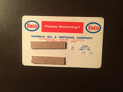 Humble Oil & Refining Company 1970 Vintage Collectors Credit Card