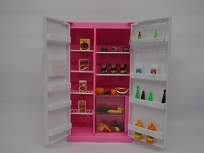 Gloria,Barbie Size Doll  Furniture/(94017) Refrigerator & Food Accessoie Set