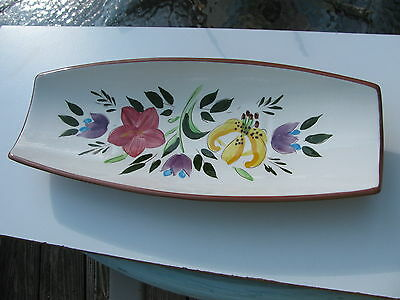 VTG. HAND PAINTED STANGL COUNRTY GARDEN PATTERN BREAD TRAY SERVING DINNERWARE
