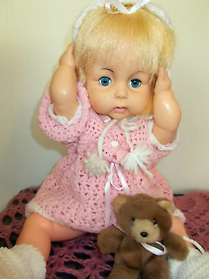 VINTAGE HORSMAN DOLL 19 INCH 1970,S THIRSTY BABY