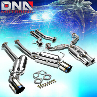"""4.5""""dual Burnt Tip Stainless Steel Exhaust Catback System For 370Z Fairlady Z34"""
