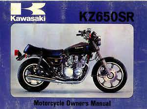 Kawasaki 1979 KZ650D2 SR Series Motorcycle Owners Manual - 800-426-4214
