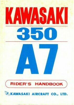 1970-1971 Kawasaki A7 Avenger 350 Motorcycle Owners Manual - 800-426-4214