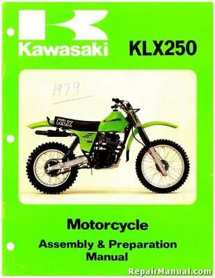 1979 Kawasaki KLX250 Motorcycle Assembly Preparation Manual - 800-426-4214