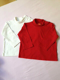 Lot 2 ss pull rouge/blanc  T12M  TBE