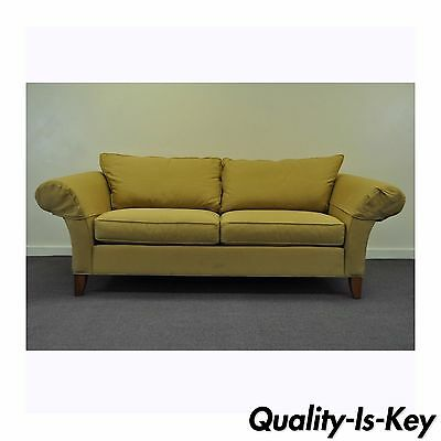 Vtg Ethan Allen USA Traditional Style Rolled Arm Sofa Couch