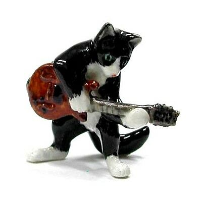 LITTLE CRITTERZ  Northern Rose Porcelain Figurine MB034 TUXEDO CAT WITH GUITAR