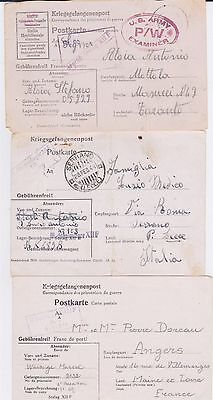 GERMANY WW II STALAG 12F POW COVER COLLECTION
