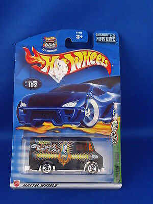 GRAVE RAVE WAGON # 4 of 4  HOT WHEELS Car - On Card  NEW! Mattel 2002 #102 ghost