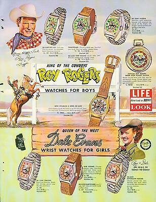 Catalog Page Ad Watches Roy Rogers Space Cadet Superman Davy Crockett 1956