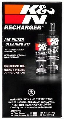 99-5050 K&N Air Filter Cleaning Kit With Oil Squeeze Bottle **Free Shipping**