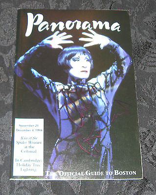 Playbill/Panorama Boston Magazine KISS OF THE SPIDER WOMAN signed Chita Rivera