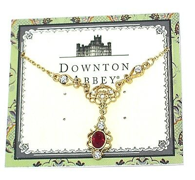 New Downton Abbey✿Ruby Jewel Necklace PBS Series Costume Jewelry British Cosplay
