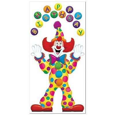 Juggling BIRTHDAY CIRCUS CLOWN DOOR COVER Decoration*CARNIVAL*Circus B-DAY PARTY