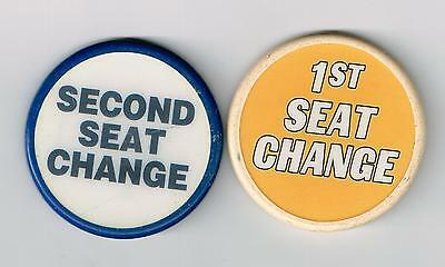 1ST & 2ND SEAT CHANGE BUTTONS FOR TABLE GAMES GREAT FOR ANY COLLECTION!