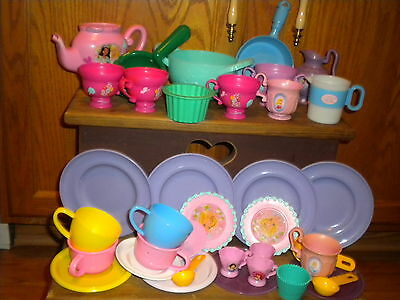 Mixed Lot of  36 Children's Play Dishes Toy