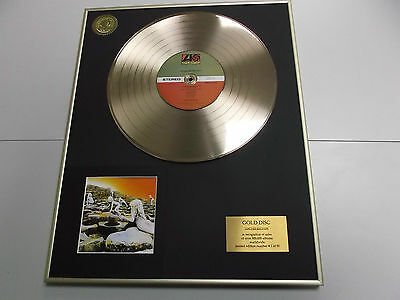 LED ZEPPELIN houses of the holy - DISCO DE ORO - CD - GOLD RECORD