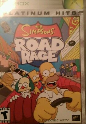 The Simpsons Road Rage  (Xbox, 2001) comeplete tested