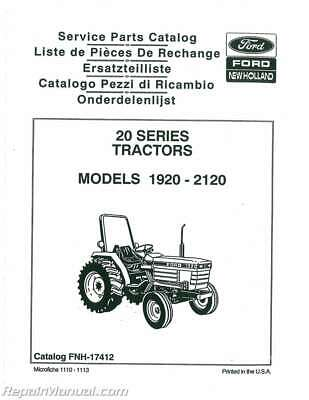 FORD NEW HOLLAND 1120 1220 1320 1520 1720 1920 2120 Tractor Manual New Holland Wiring Diagram on new holland 1720 tractor, new holland 1720 specifications, new holland 1720 parts,