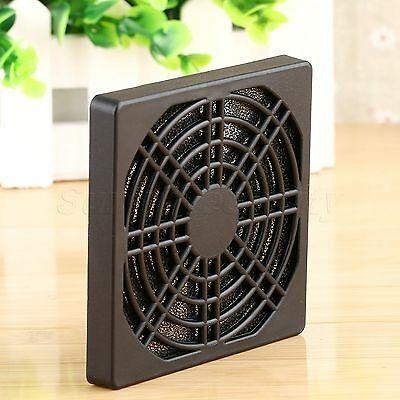 80mm Dust Proof Nets Three-In Grille protective Mesh Cover for PC Case Fan Black