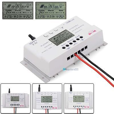 LCD 10/20/30/40A 12/24V MPPT Solar Panel Regulator Charge Controller 3 Timer TRC