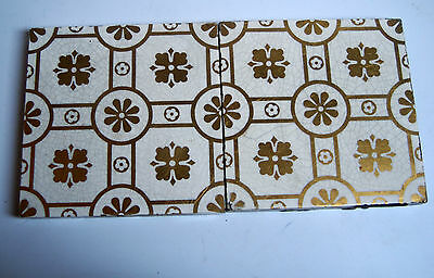 2 Victorian Tiles With Gold Lustre Decoration