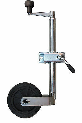 New 35Mm Heavy Duty Jockey Wheel & Clamp Trailer Caravan Plant Container 75Kg
