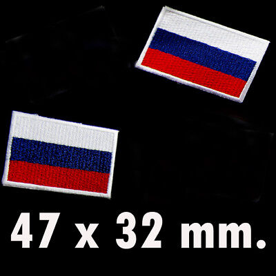 1 X Russia Flag Embroidered Patch Russian National Emblem Russian Federation