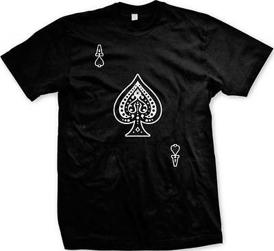 Ace of Spades Spadille Death Card Playing Cards Mens T-shirt