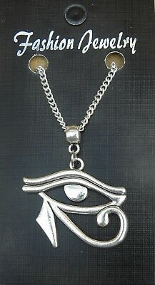 "18"" or 24 Inch Necklace & Eye of Horus Ra Charm Wedjat Pendant Gift Souvenir"