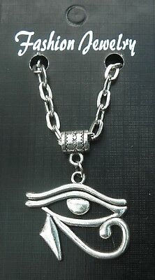 "20"" or 24 Inch Necklace & Eye of Horus Ra Charm Wedjat Pendant Gift Souvenir"