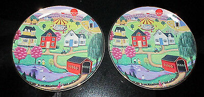 """The American Folk Art Collection Collector Plate """"Spring Fair"""" by Steven Klein"""