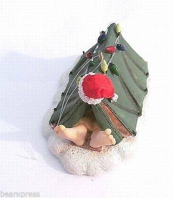 Santa Sleeping in Tent - Camping - Resin Christmas Ornament - Brand New