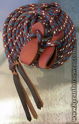 7FT HORSEMENS PERFORMANCE SPLIT REINS with SLOBBER STRAPS 17 colours available