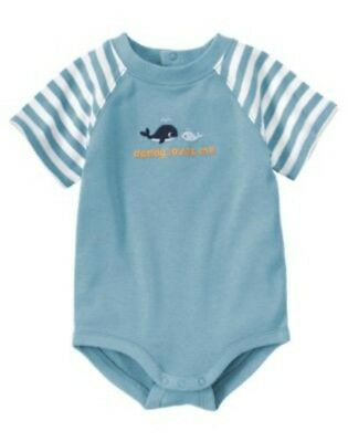 NWT 3-6 Months Gymboree BRAND NEW BABY Whales Daddy Loves Me Bodysuit Top