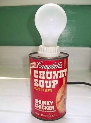 Vintage Lamp Campbell's Soup Can Retro Andy Warhol