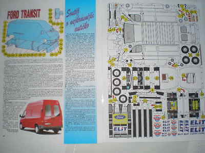 Ford Transit  / Czech Rare Paper Model 1 : 43