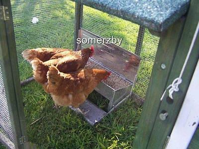 Chicken Feeder Automatic treadle Aluminium Chook Poultry coop FULLY ASSEMBLED