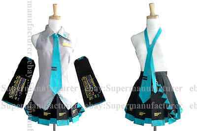 New Anime Vocaloid Cosplay Hatsune Miku Costumes,Customized Any size(Note pls)07
