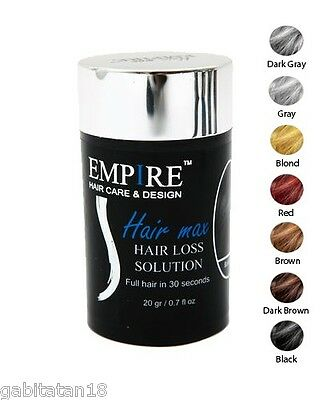 Hair Building Thickening Fibers Empire Hair Loss Concealer - Multiple Colors